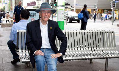 Ray Newland, consumer representative, sitting on bench